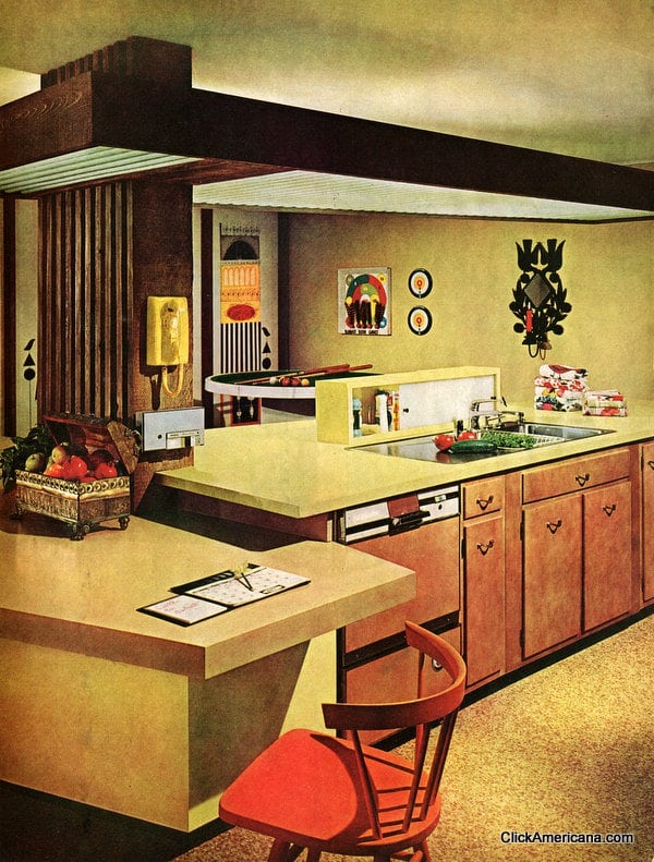 Home Interior Designs For Kitchens: Four Wonderful, Workable Kitchens (1965)