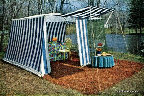 Gimme shelter: Striped outdoor tents (1965)
