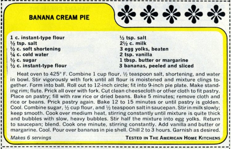 1965 vintage banana cream pie recipe (1)