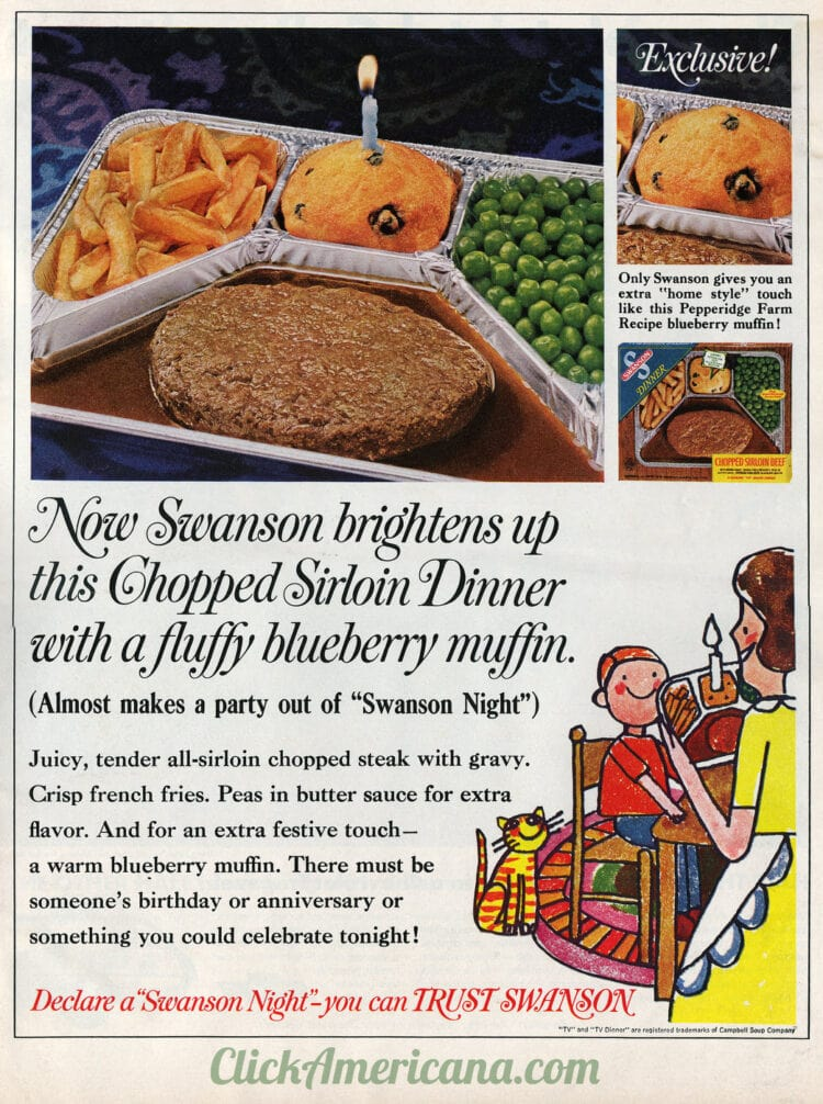 1966 -1968 vintage TV dinner - Chopped Sirloin