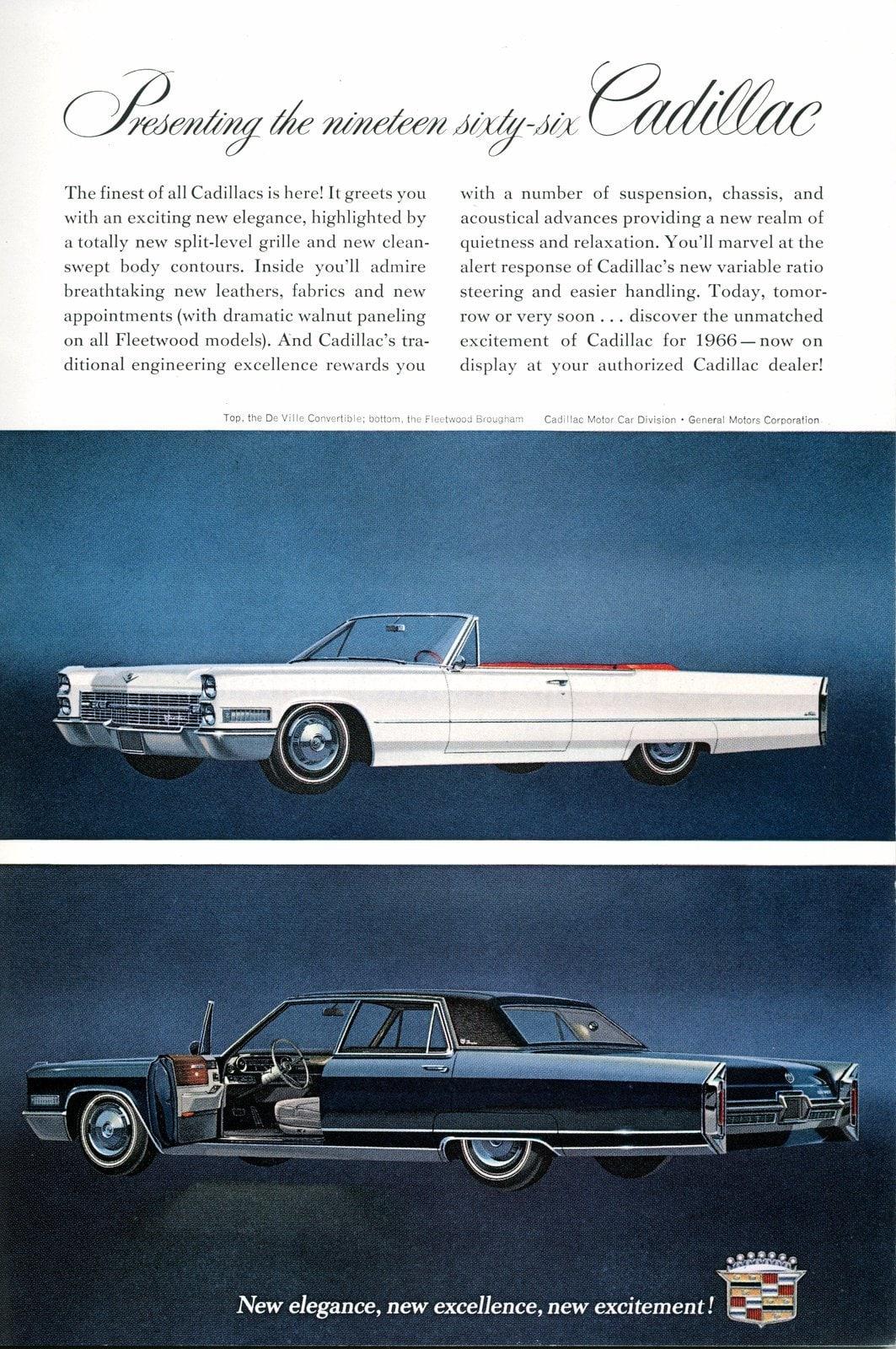 1966 Cadillac cars