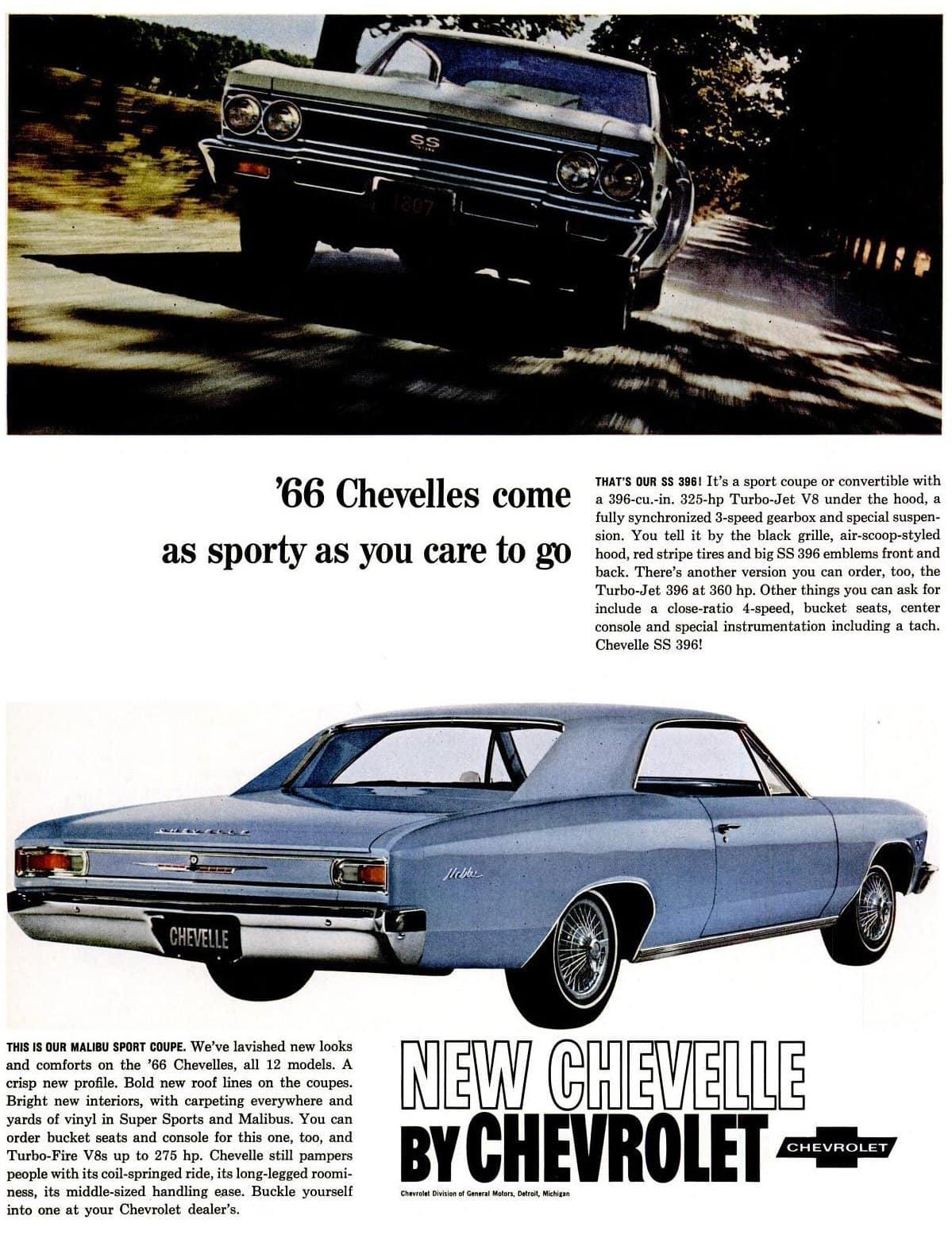 1966 Chevelle cars - Chevrolet