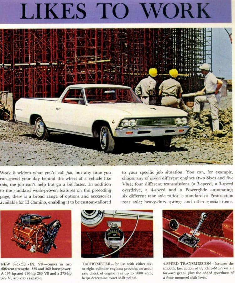 Classic Chevrolet El Camino - 1966 pickup trucks