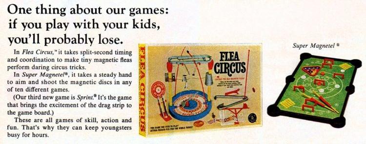 1966 Flea Circus and Super Magnetel games