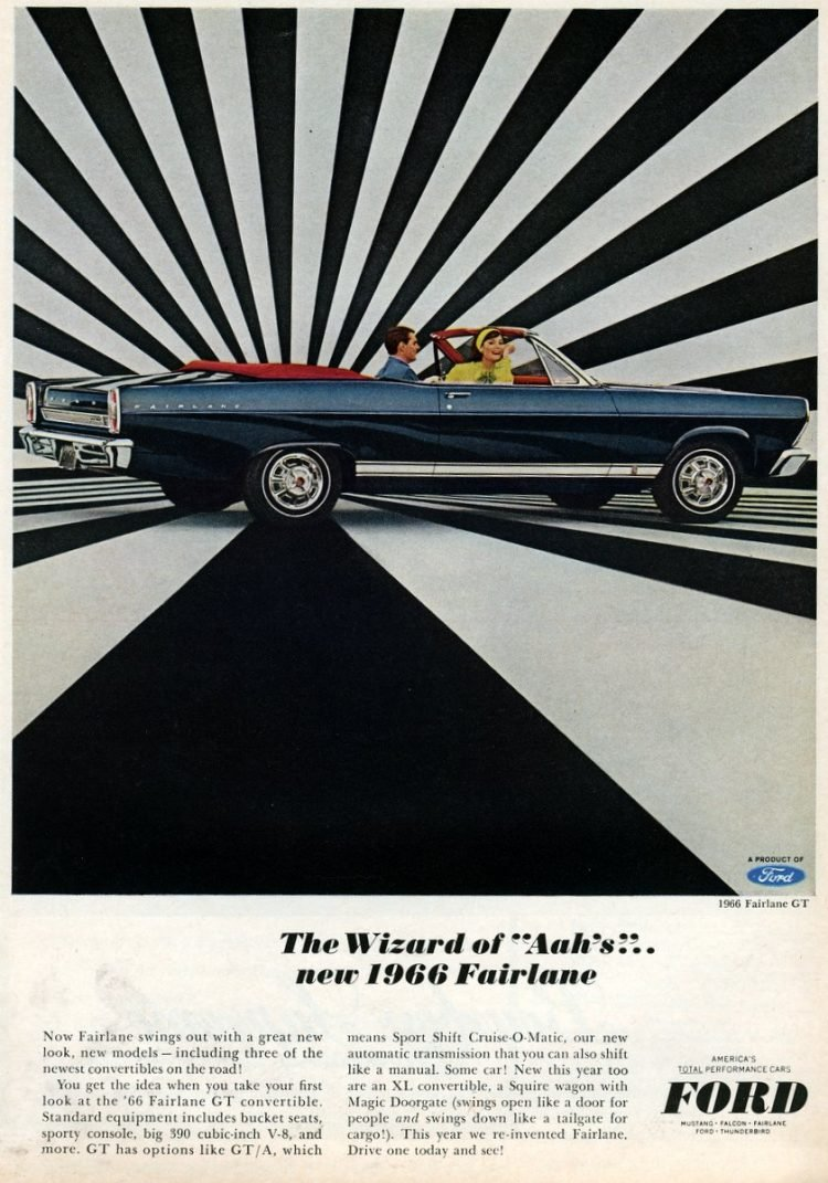 1966 Ford Fairlane convertible from 1965