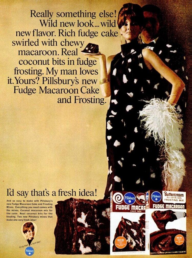 1966 Fudge macaroon cake mix