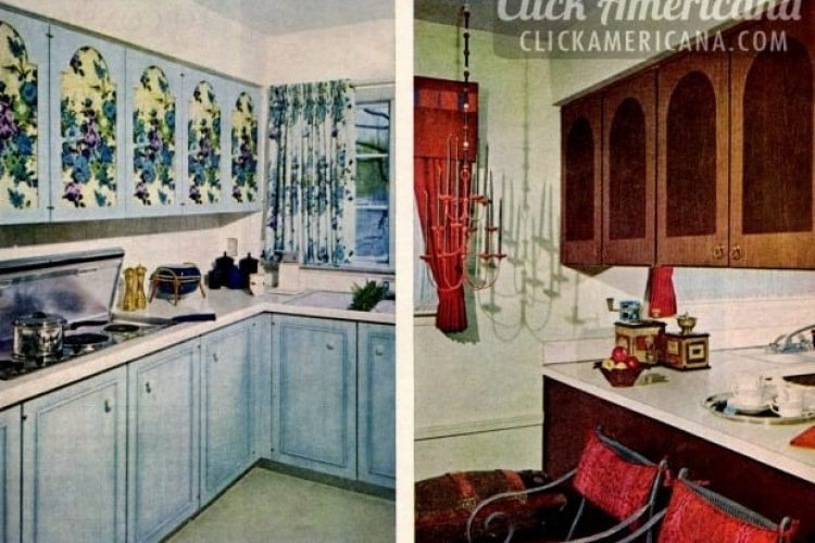 Glam Up Your Home With Vintage 60s Kitchen Cabinets Click Americana