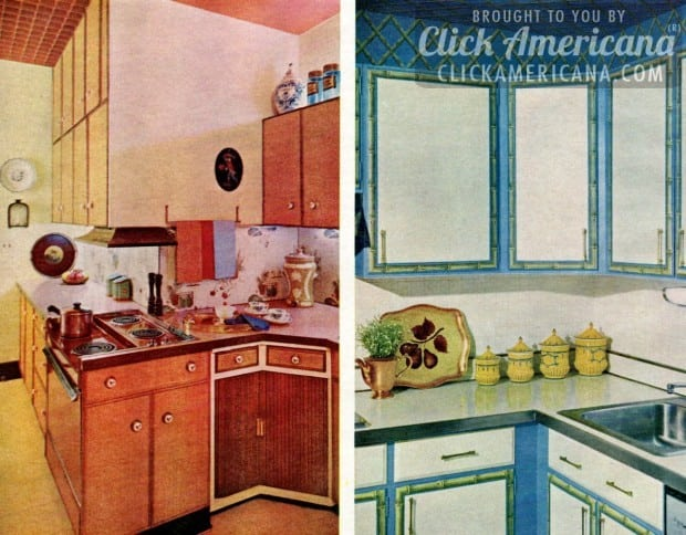 Glam up your kitchen with sixties style click americana for 60s kitchen cabinets