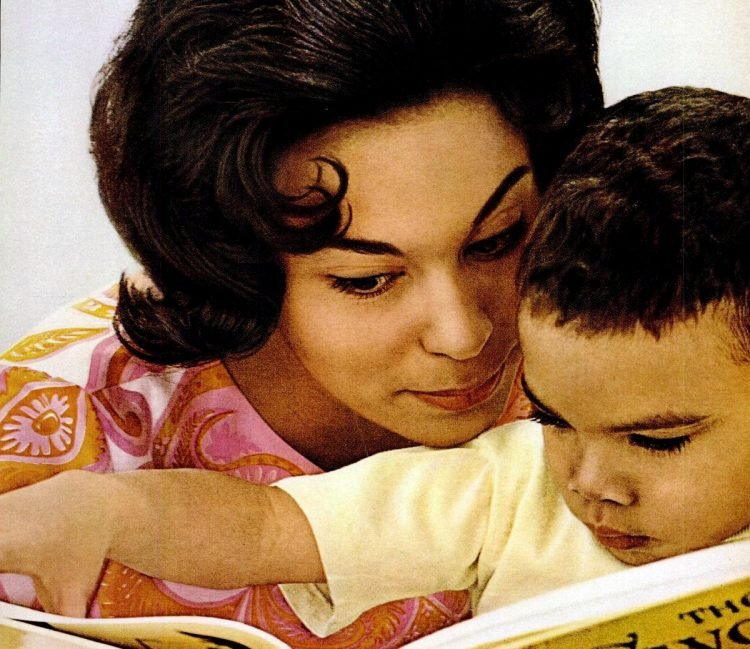1966 Mother and son reading