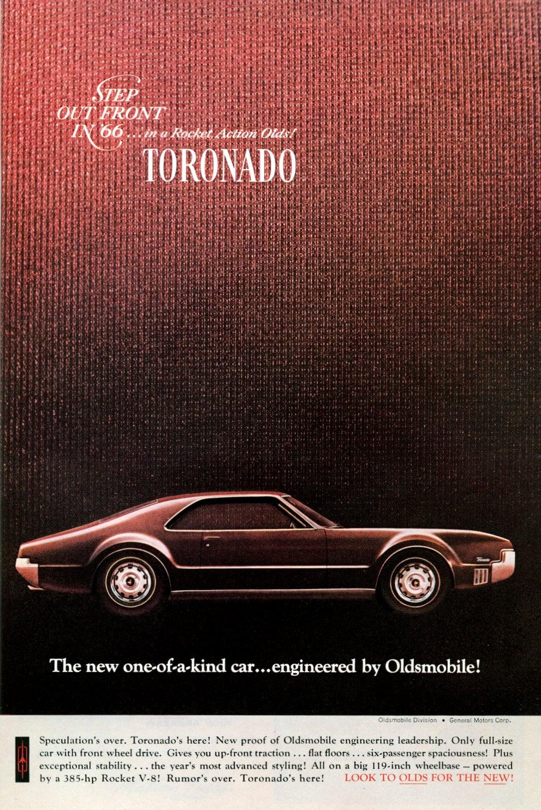 1966 Oldsmobile Toronado classic car ad
