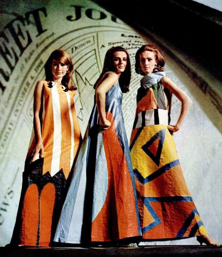 1966 Paper dress fashion