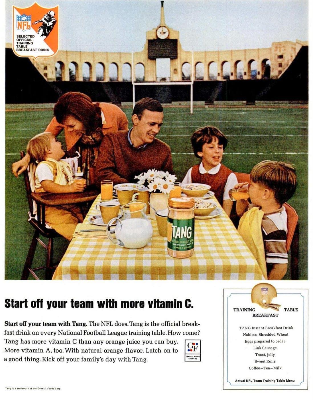 1966 Tang drink mix - Team