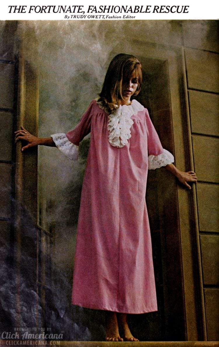 The fortunate, fashionable rescue - Stylish '60s nightgowns