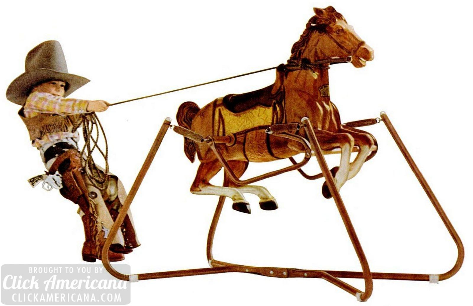 Wonder Horses See Vintage Ride On Spring Horse Toys From The 50s To The 80s Click Americana