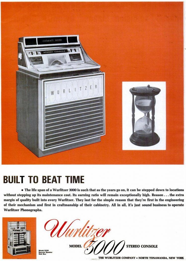 1966 - Wurlitzer 5000 stereo console juke box
