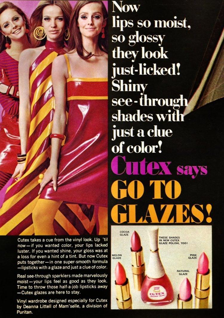 1966 Vintage nail polish lipstick glaze