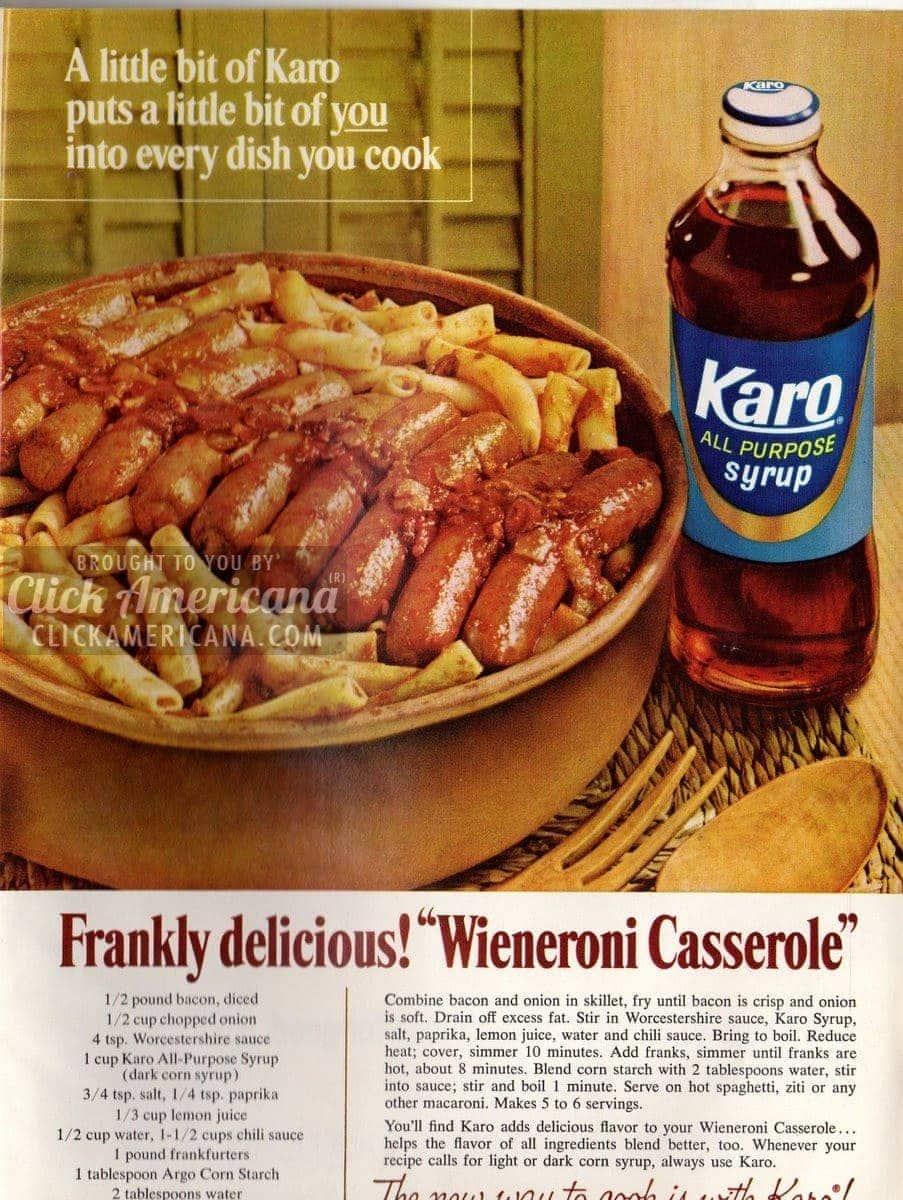 Frankly delicious! Wieneroni Casserole (1966)