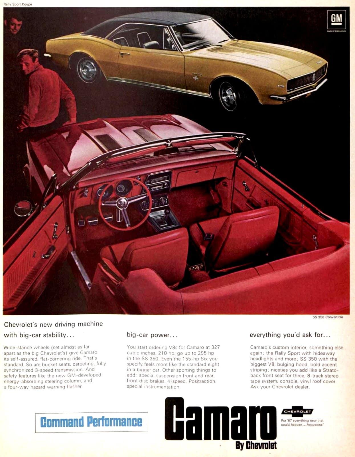 1967 Camaro SS 350 convertible