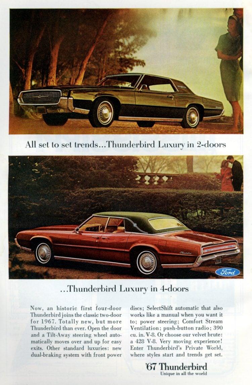1967 Ford Thunderbird cars (2)