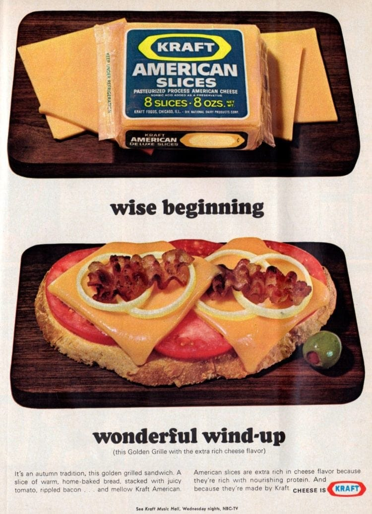 1967 Golden grilled cheese sandwich recipe