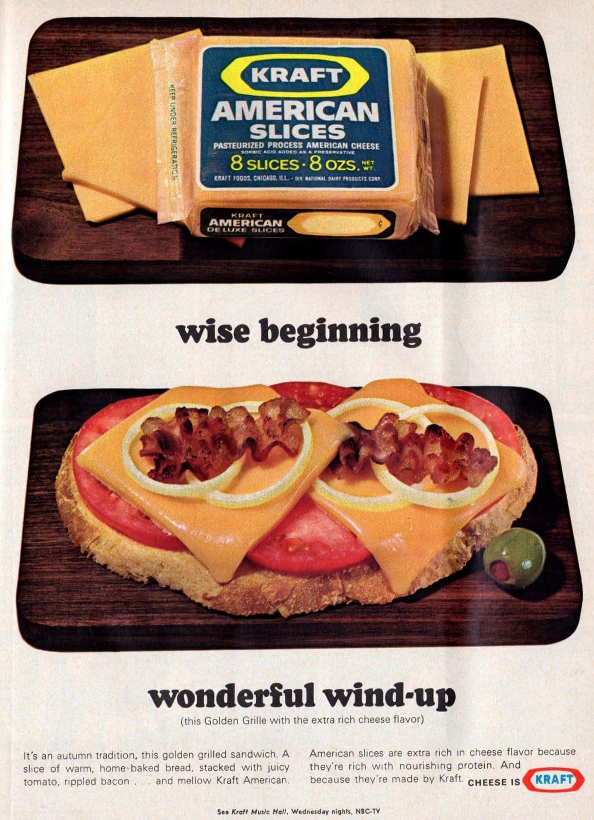 1967 Golden grilled cheese sandwich recipe