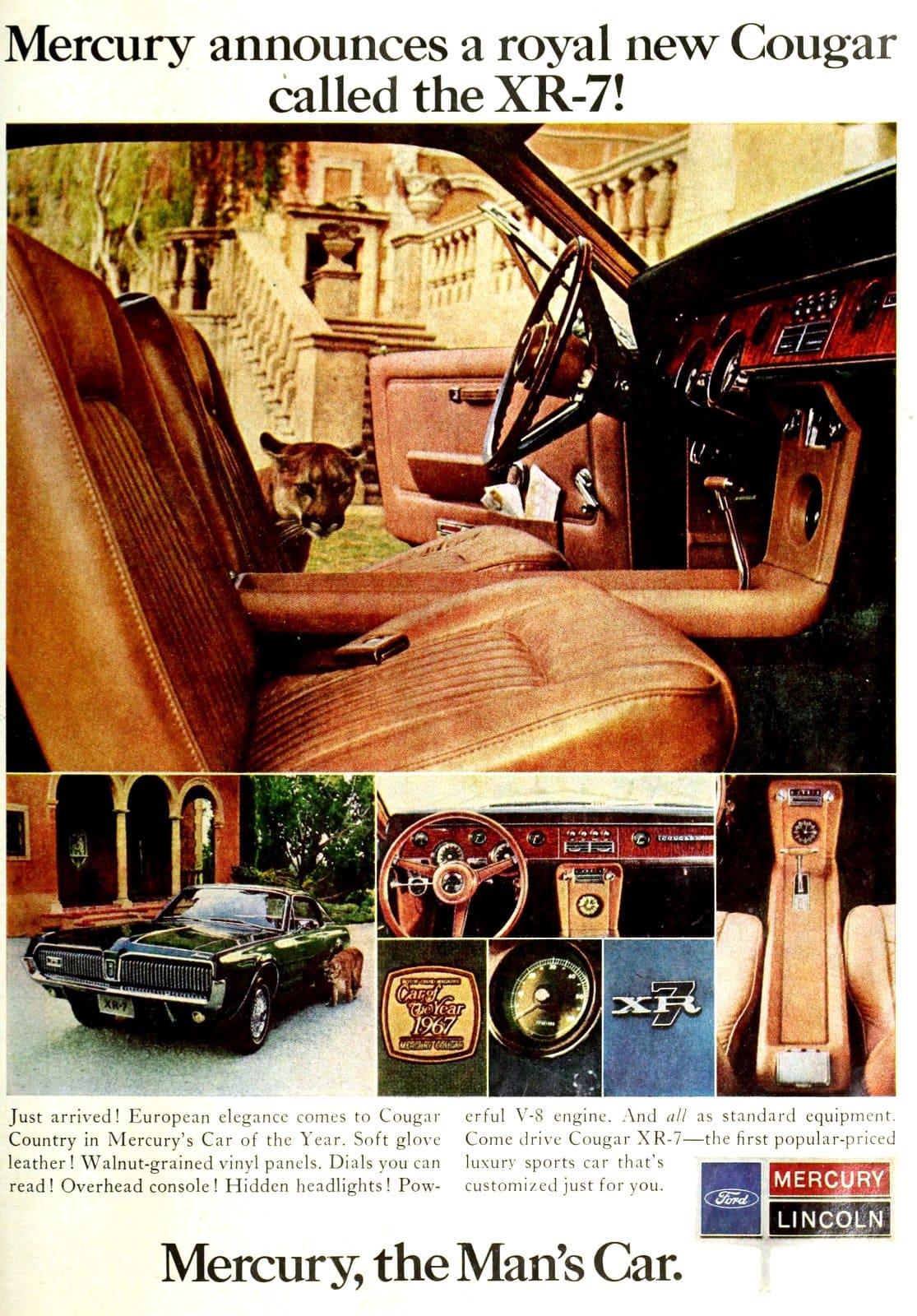 1967 Mercury Cougar XR-7 car