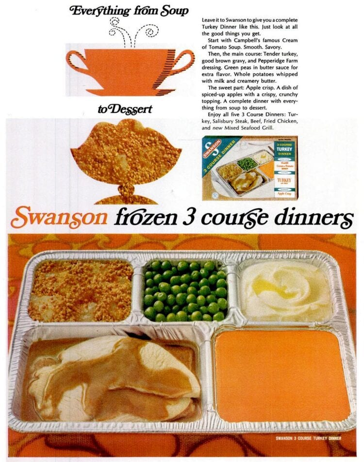 1967 Vintage Swanson TV dinner with soup