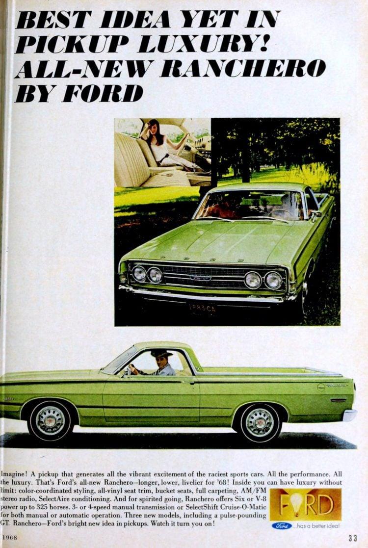 1968 1969 Ford Ranchero - Green