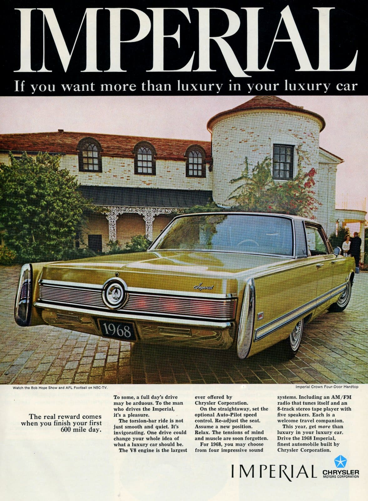 1968 Chrysler Imperial - vintage classic car ad (1)