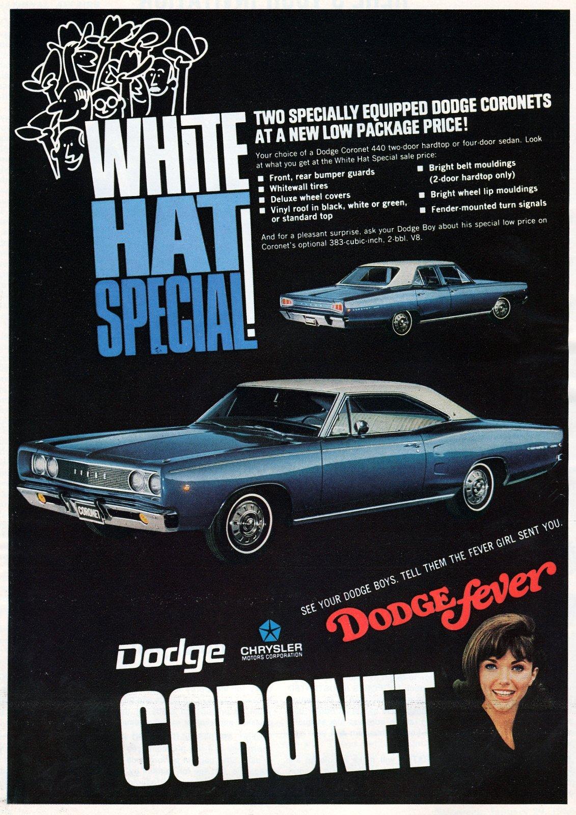 1968 Dodge Coronet cars