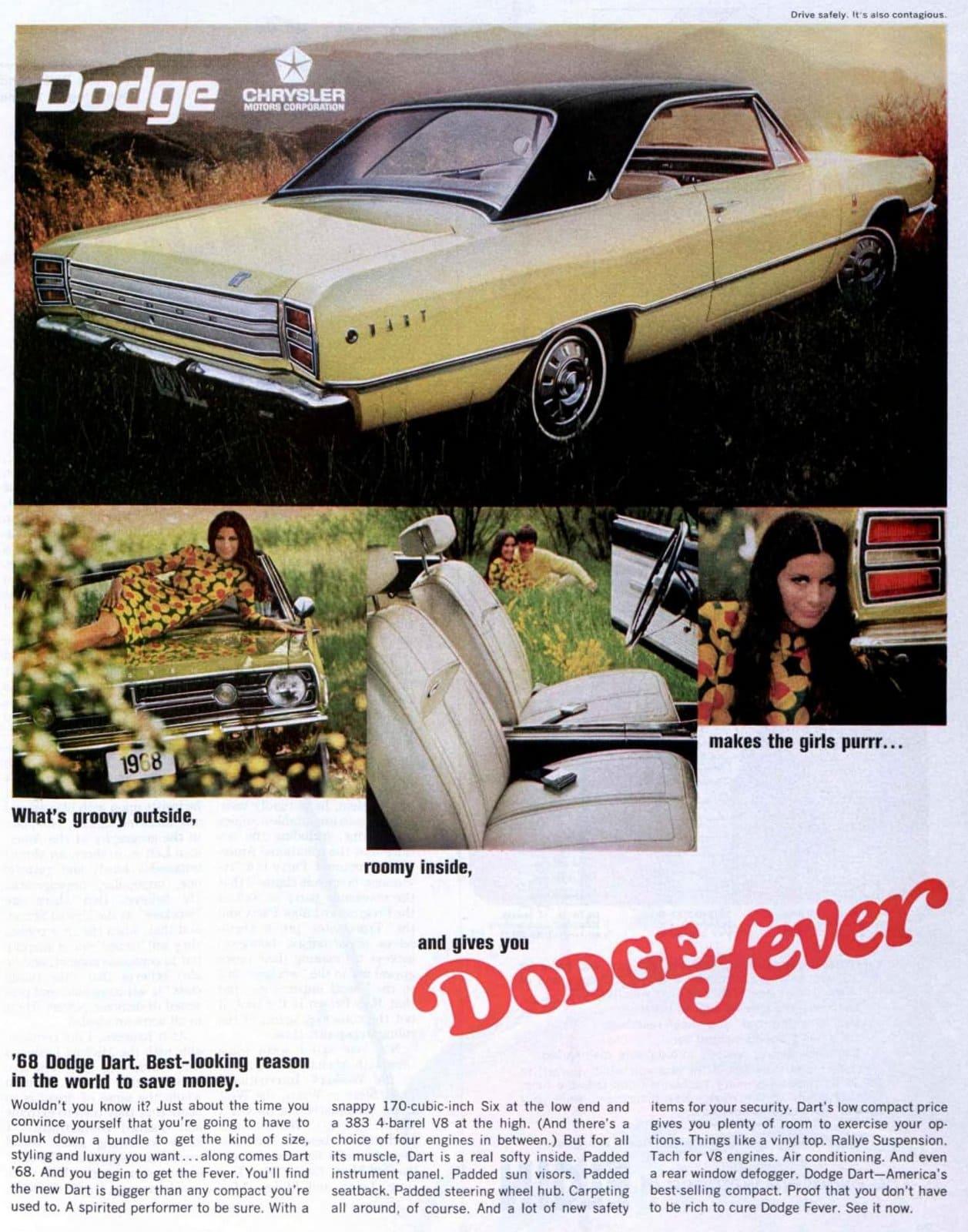 1968 Dodge Dart cars from Chrysler