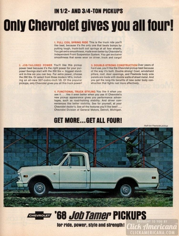 Chevrolet '68 Job Tamer pickups