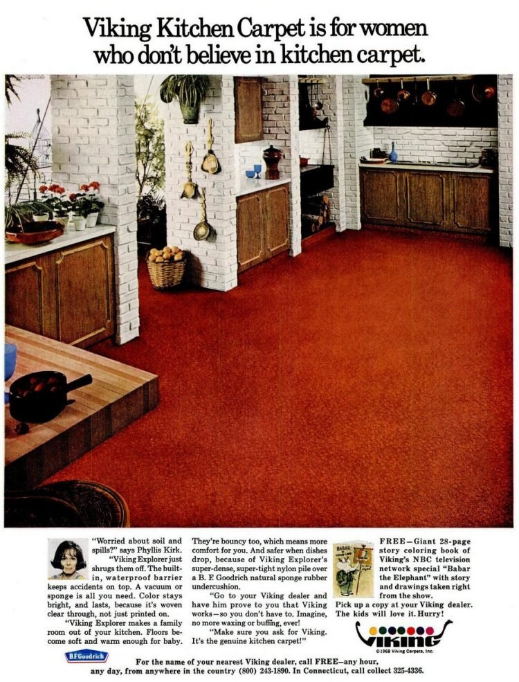 1968 Kitchen carpet for the home