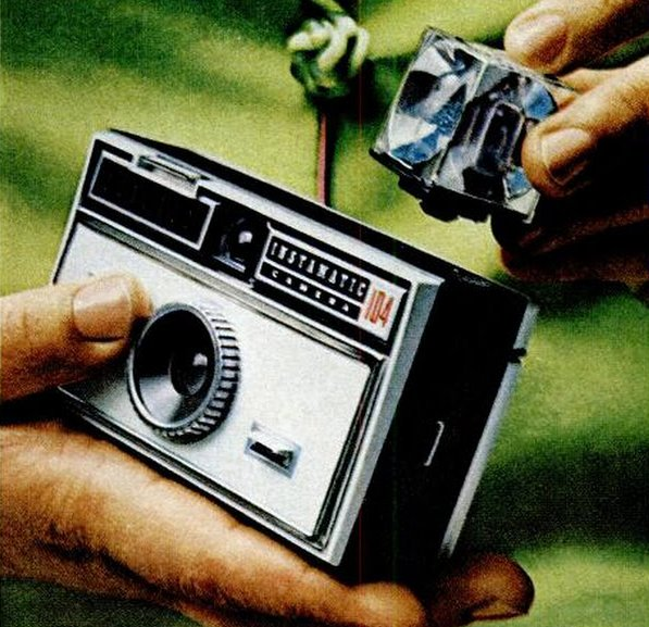 1968 Kodak Instamatic camera with flash cube