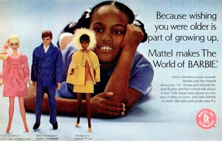 Because wishing you were older is part of growing up, Mattel makes The World of Barbie (1969)