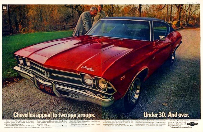 1969 Chevelle car - red