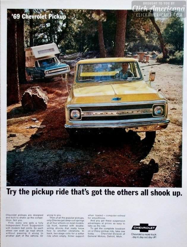 1969-Chevrolet-Pickup-Truck-Camper-Woods-Campground-ad