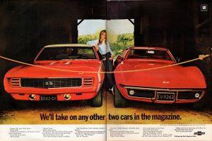 1969 Chevy Camaro and Corvette Coupe