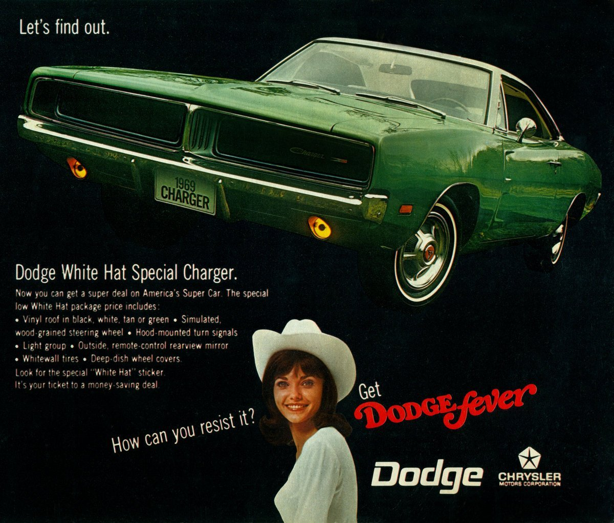 1969 Dodge White Hat Special Charger car