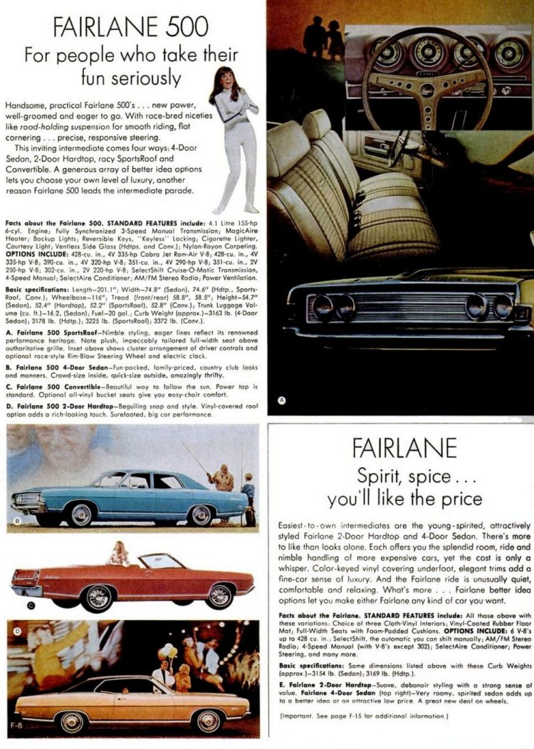 1969 Ford Fairlane cars - Dec 27, 1968