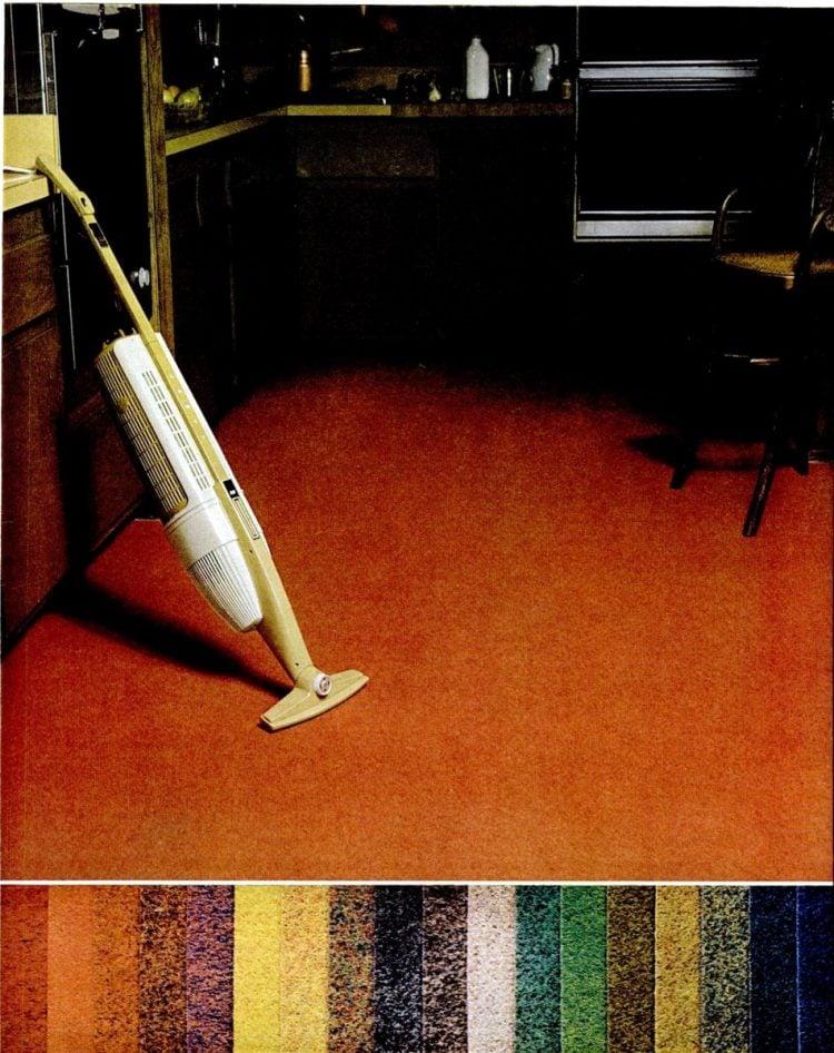 1969 Kitchen carpeting retro-style