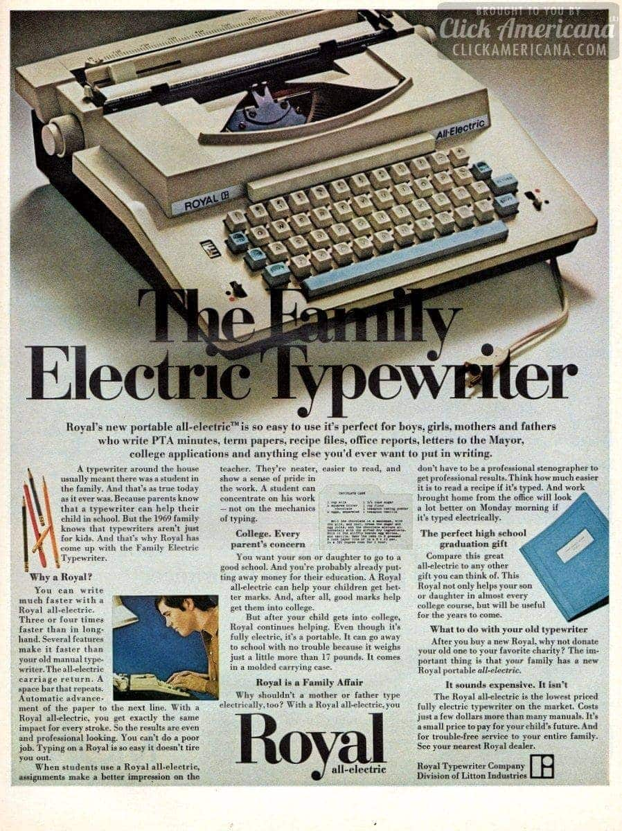 The family electric typewriter: Royal (1969)