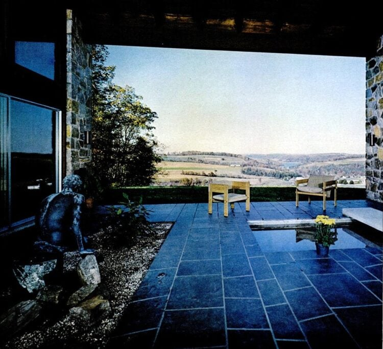 1969 - Secluded vintage backyard patio with an amazing view