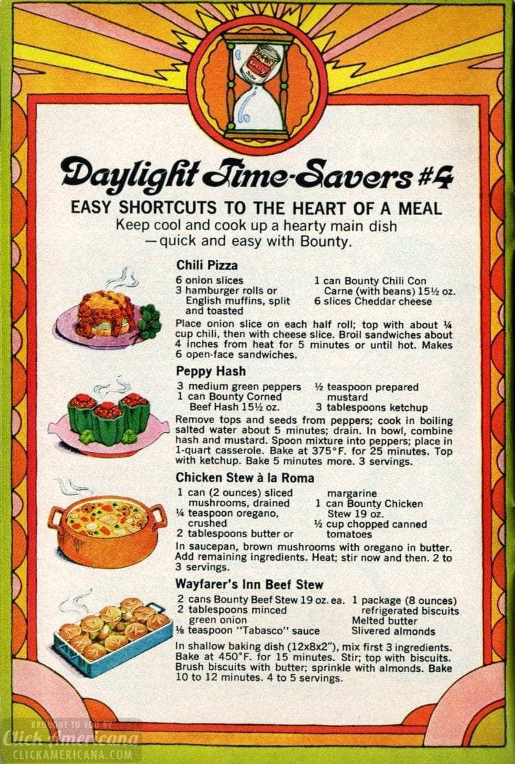 1969 Summer recipes - Stew and chili