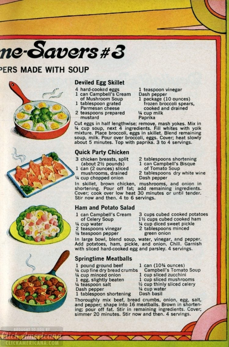 1969 Summer recipes - Suppers with soup