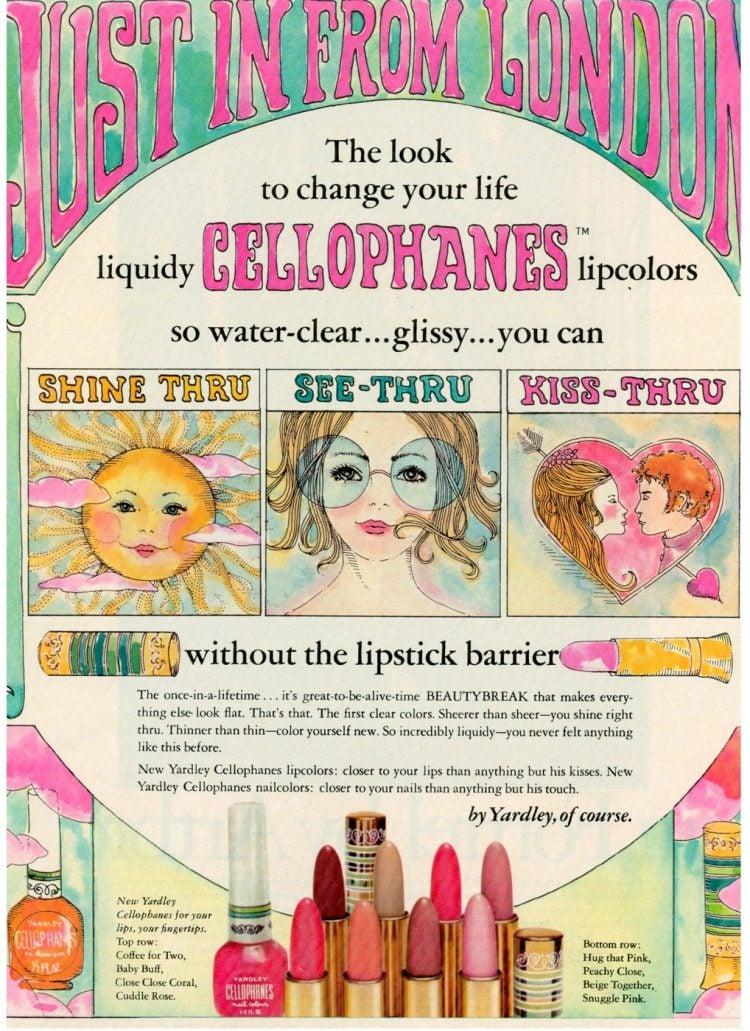 1969 Yardley cellophanes lip makeup