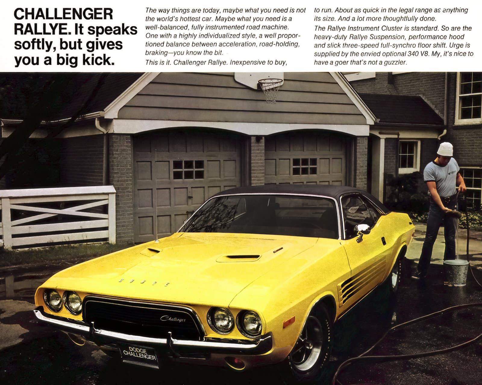 1970 Dodge Challenger Rallye in yellow