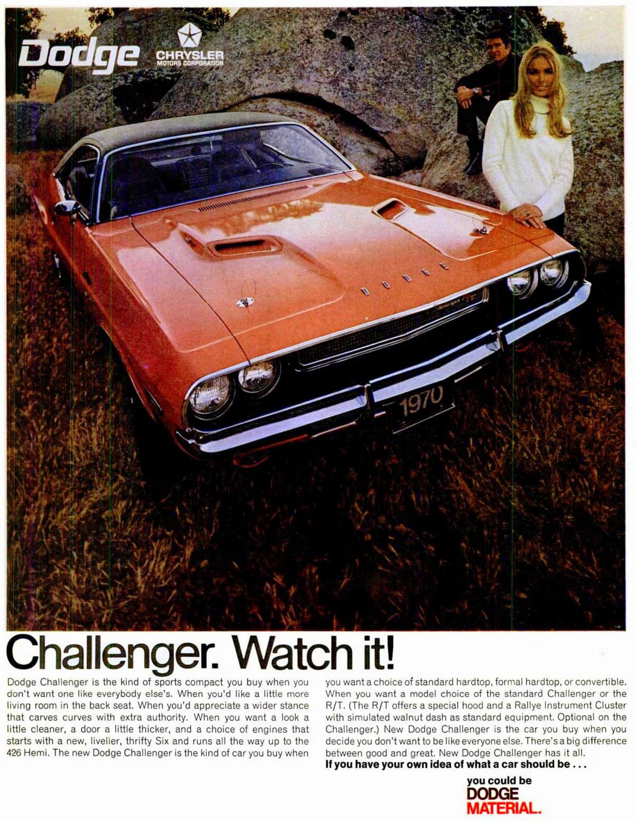 1970 Dodge Challenger cars