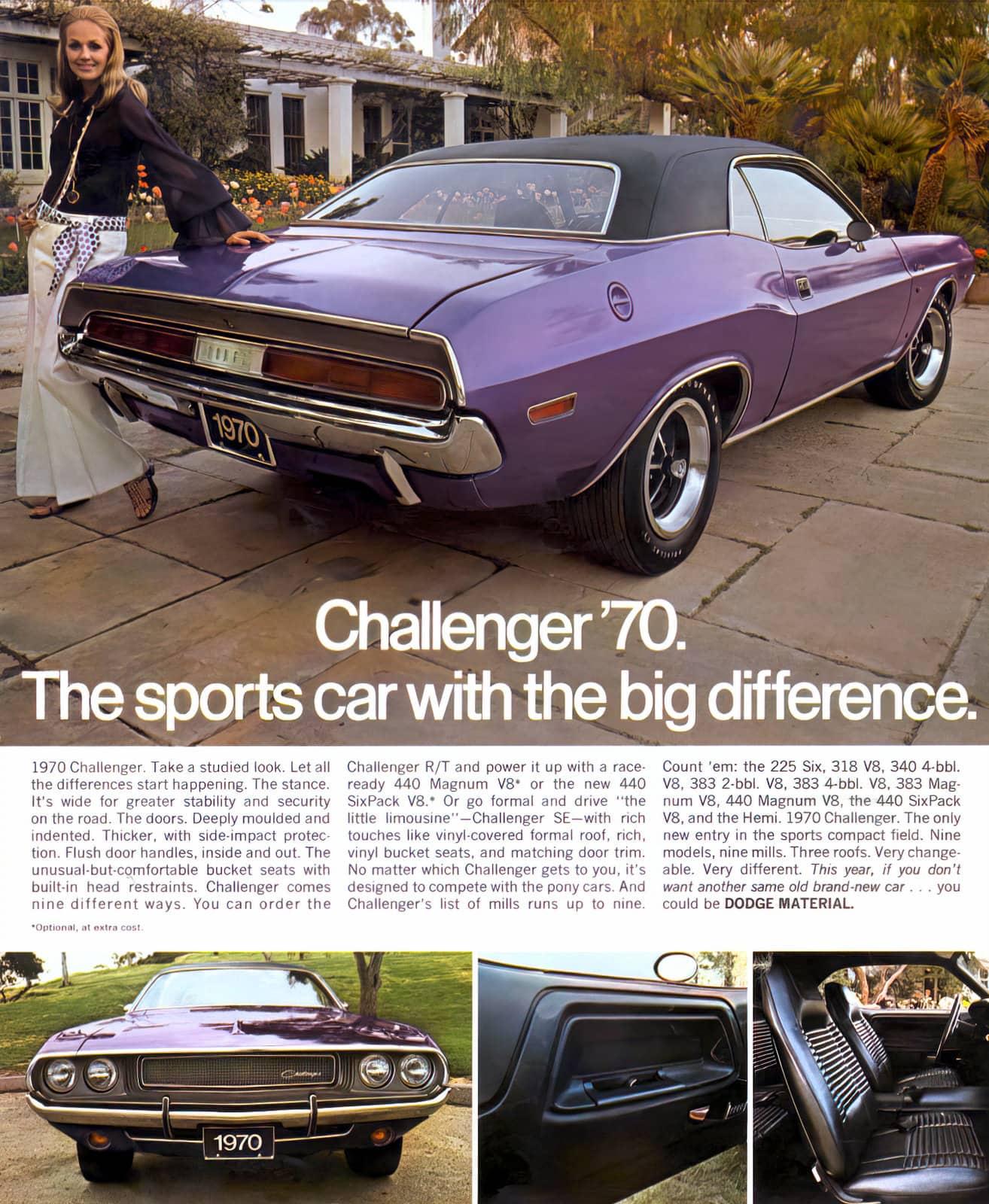 1970 Dodge Challenger sports car