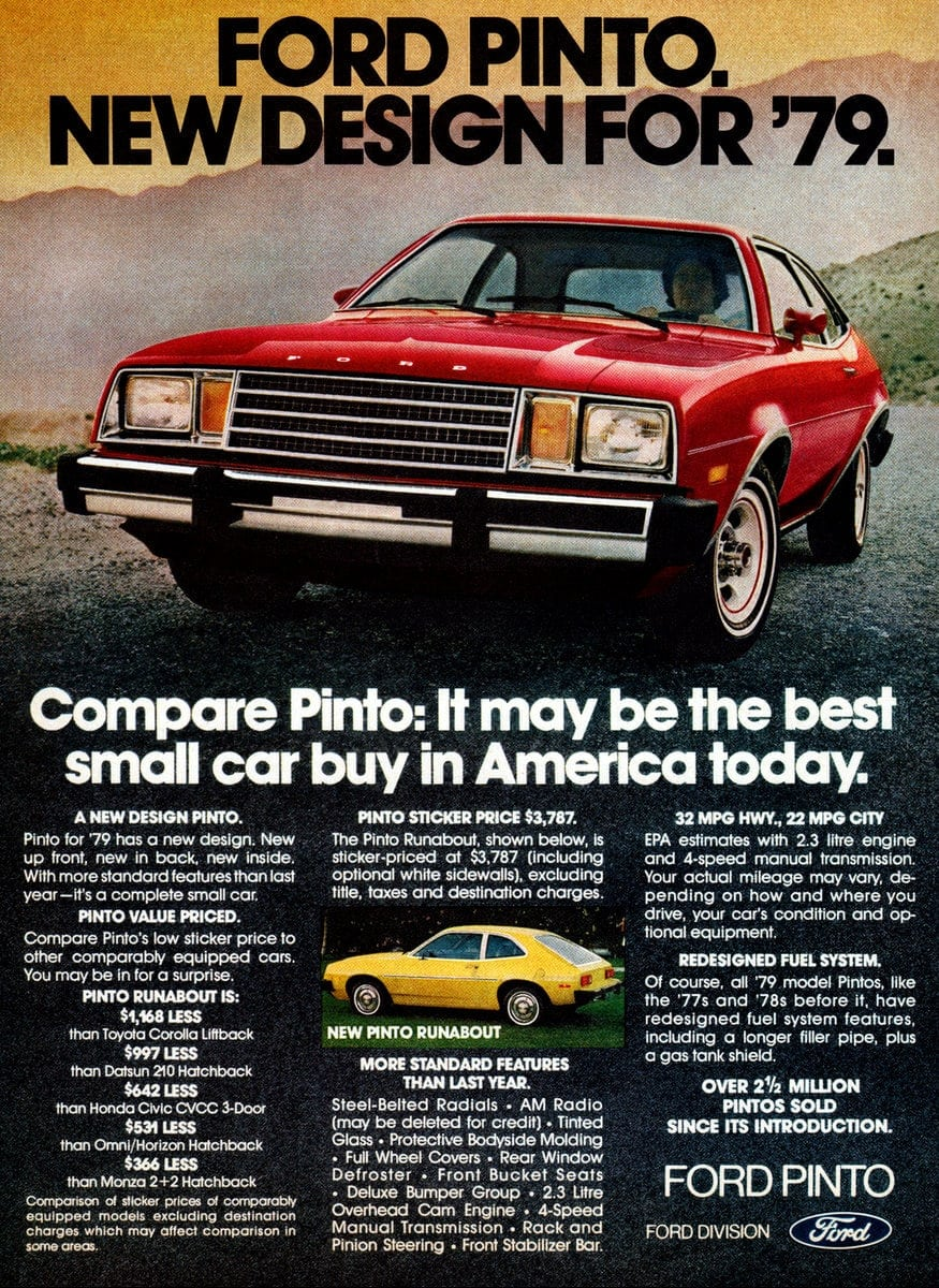 1970 Ford Pinto cars